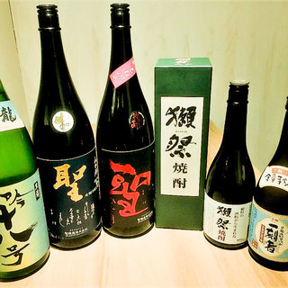 ポピュラーな日本酒から、季節限定の隠し酒!焼酎なども・・・