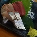 73991953 - 刺身3種盛り(鰹、鰆、真鯛)
