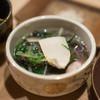 うを徳 - 料理写真:2017.9 岩手松茸 菊の花 水菜 茹で落花生