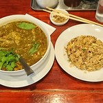 中華料理 八戒 - アンコウのスープカレー&マトン炒飯