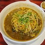 中華料理 八戒 - 〆の麺ダイブ→カレーラーメン