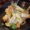 長寿饂飩 つるかめ - 料理写真:海老と揚げ餅のぶっかけ