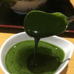 しもきた茶苑大山 - 抹茶蜜、とろり〜ん