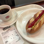 BECK'S COFFEE SHOP - ホットドック240円+Sブレンド230円