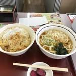 山田うどん - H29.9 かき揚げ丼セット