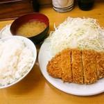 山家 - ごはん・味噌汁・ロースかつ