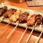 膳 - 激ウマ 串焼盛り合わせ 950円 牛肉です!!2回注文しました♪