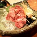 膳 - 神戸牛の刺身 850円 ちょっと高いすぎ、味もイマイチ、、