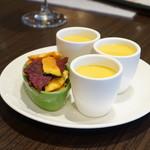 俺のフレンチ 博多 - 前菜のスープ