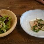 Cafe LINQ - (20171001)バターチキンカレーのサラダと前菜