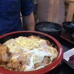 そば処わらべや - かつ丼650円