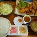 74029910 - たれ唐揚げ定食のライス大盛(税別970+100円)