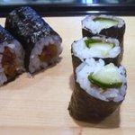 東寿司 - 梅シソ胡瓜と干瓢