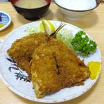 74030937 - アジフライ定食1000円