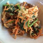 ポロシリ - 牛肉野菜胡麻和え