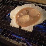 浜焼太郎 - ほたてのみそ焼きビフォア