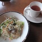 ピッコロ ピアット - サラダとスープとパン
