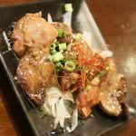 フルミチ  - 鶏もつのガーリックオイル漬け(300円)2017年9月