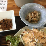 ちょんたま食堂 - 鶏皮と塩昆布で味つけしたやつ       野菜はタップリだよ
