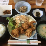 ちょんたま食堂 - 唐揚げ定食680円