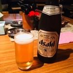 三代目 白兵衛 - ビール中瓶(580円)