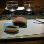 和酒BAR 煙草屋 - 和菓子を日本酒で