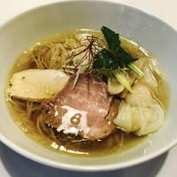 麺画廊 英 - 地鶏 塩拉麺