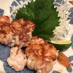 メリメロ亭 - 真鱈の白子モンゴル岩塩焼き980円