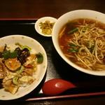 味蔵 - 特製ラーメンセット(960円) 台湾ラーメン&回鍋肉丼