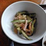 仙岩峠の茶屋 - 胡瓜と木耳の和え物
