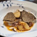 キノシタ - 黒ムツのポワレ ヒュメ・ド・ポワソンのソース 十穀米のリゾット セップ茸