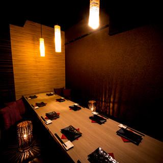 《宴会・パーティーに》少人数から団体様まで個室席をご用意!