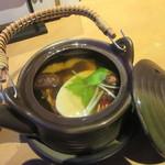 74057631 - 「松茸とハモの土瓶蒸し」
