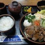 道の駅あさご 食事処 ささゆり - 料理写真:鹿肉定食 ¥950