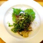 嵯峨 - 料理写真:イワシ刺身