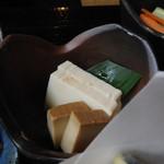 玄武 - そば御膳 豆腐の味噌漬け