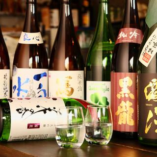 日本酒は専門店ならではの品揃え!希少な地酒も味わってみて