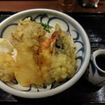 喜多一 - 料理写真:秋の野菜の天ぷらぶっかけ