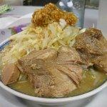 鶏とふじ - 醤油ふじ麺650円 野菜ちょい増しニンニク増し無料