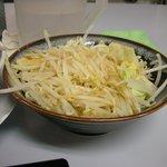 鶏とふじ - 野菜を増すと別皿で出てくる