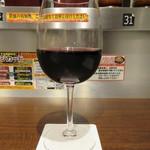 いきなりステーキ - アルパカ グラス(赤) 500円(税別)