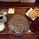 ふくや - 料理写真:田舎蕎麦¥600+大盛り¥150+かき揚げ¥100