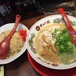 天下一品 - チャーハン定食大盛(950円+120円)