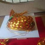 うさぎ屋 - 鯛の飾り