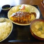 丸喜 - 料理写真:玉子巻とんかつ定食☆