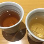 しもきた茶苑大山 - ほうじ茶お代わりも無料。子供には薄めで氷を入れて出してくれました(^-^) さすが茶屋!