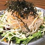 水菜と明太子の大根サラダ