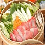 金目鯛と旬菜の蒸篭蒸し(2~3人前)