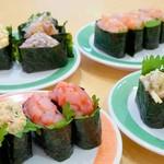 太郎すし - 料理写真:軍艦いろいろ。