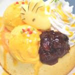 SNOOPY茶屋 - 【期間限定】ウッドストックのかぼちゃの厚焼きパンケーキ[2017年10月5日~11月26日販売予定]